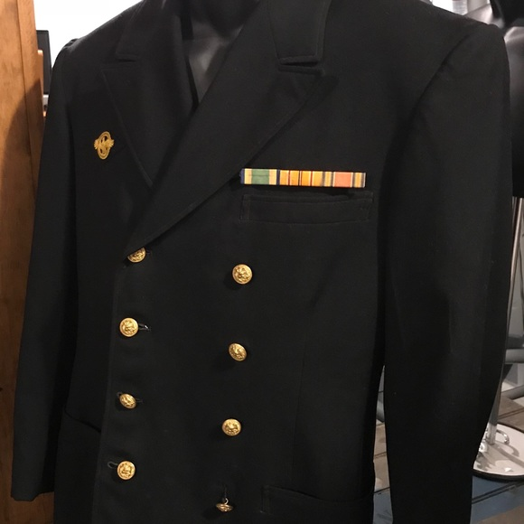 Jackets Coats World War 2 Us Navy Dress Uniform Named Ribbons